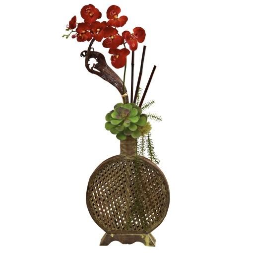 Nearly Natural 1338 Orchid, Succulent Sunrise Arrangement