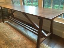 oak sofa table finished