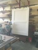white doors in progress