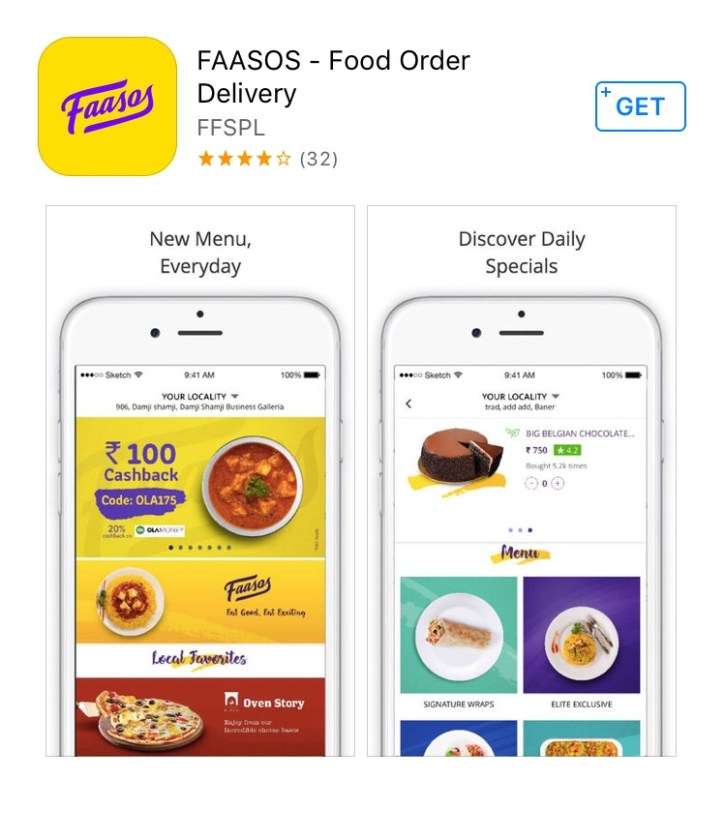 Food Apps - Faasos has become popular since its launch in 2011.