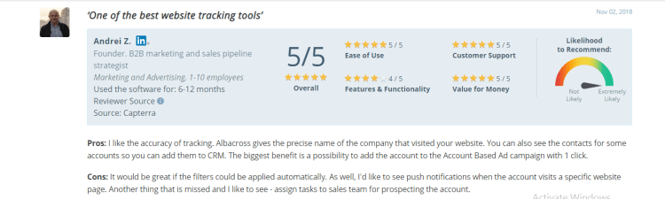 Albacross Product review