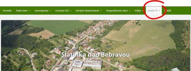 covid-19 Slatinka nad Bebravou hlavná stránka