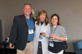 John Harris (Welocalize), Vicenta Ten Soriano (SDL), Annette Lawlor (L10N People) at SlatorCon London 2017
