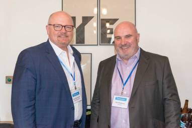 Hans Fenstermacher (ULG), Gary Muddyman (Conversis) at SlatorCon London 2017
