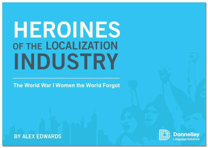Donnelley Language Solutions Releases Book 'Heroines of the Localization Industry'