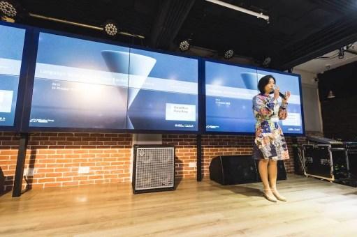 Jie Li,Senior Product Operation Advisor of Alibaba, speaking at SlatorMeet Hong Kong 2018.