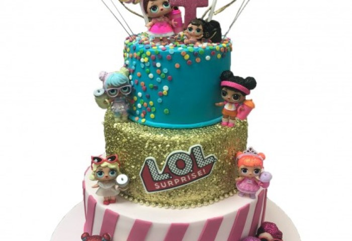 Lol Dolls Tiered Cake
