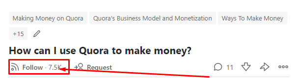 How to make money on Quora- followers