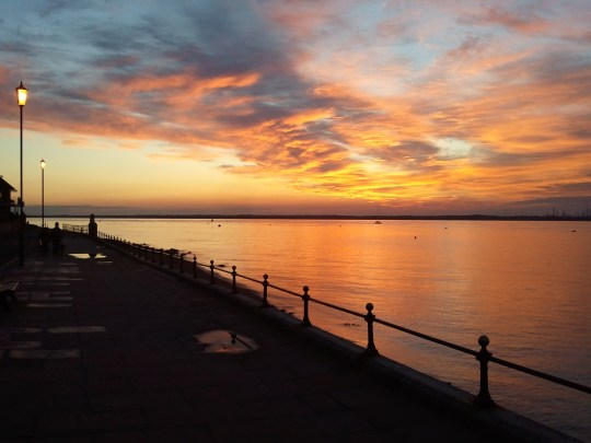 Sunset at Cowes, Isle of Wight
