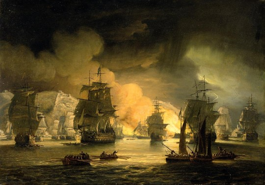 The Bombardment of Algiers by Lord Exmouth