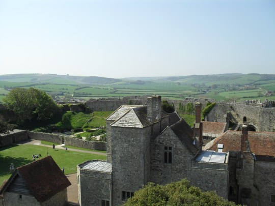 View over Carisbrooke Castle