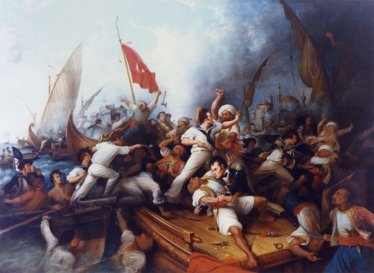 Stephen Decatur boarding the Tripolitan gunboat, 1804