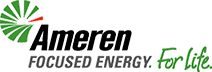 Ameren Logo. Focused Energy. For Life