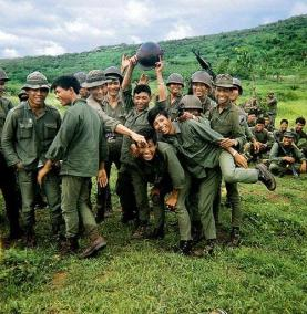 ARVN Troops Celebrate The Completion Of Their Weapons Training With 5RAR