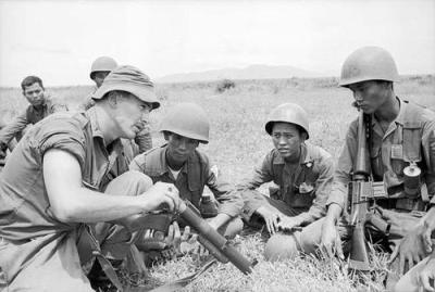 Anzac Battalion Members Instructing Troops from the ARVN