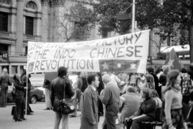 Australian Public Celebrating the Communist Victories in Indo-China