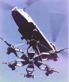 Chinook Carrying Field Artillery