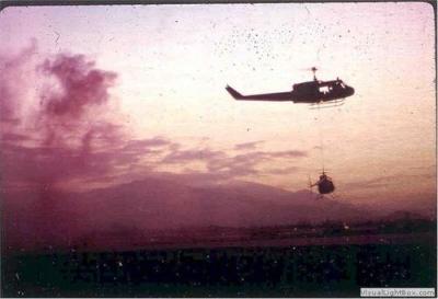 D-Troop Huey Bringing Back A Distressed LOH