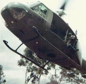 Huey In Flight