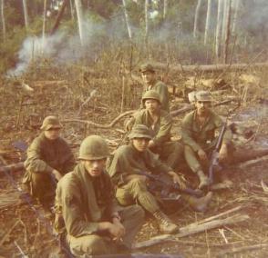 Johnston, Unknown, Pastran, Oslonowski, Gale and Carillo, 1st Platoon