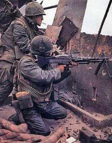M60 Gunner and His Assistant Gunner During the Battle for Hue