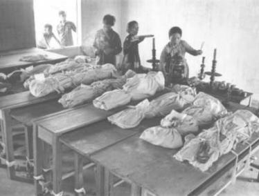 Packages Which Contain the Remains of South Vietnamese Civilians Who Were Murdered by the NVA