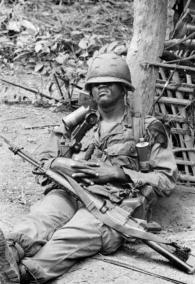 Paratrooper Rests During a Lull in Fighting Near Bong Son During Operation Thayer