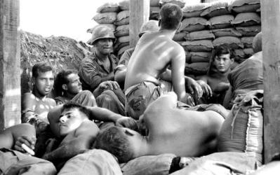 Soldiers In A Dismantled Bunker To Escape Howitzer Rounds