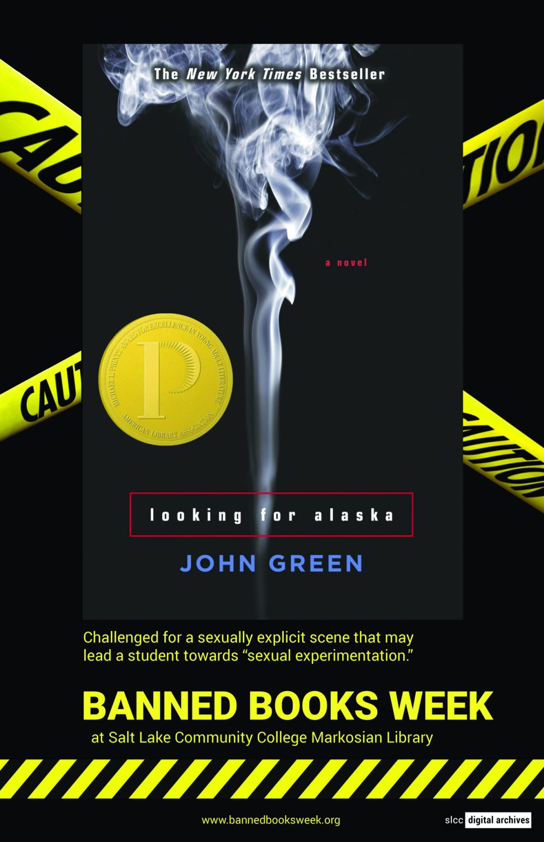 Banned Books Week Poster: Alaska written by John Green
