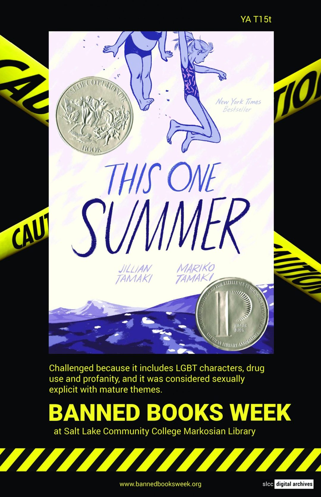 Banned Books Week Poster: This One Summer by Jillin Tamaki and Mariko Tamaki