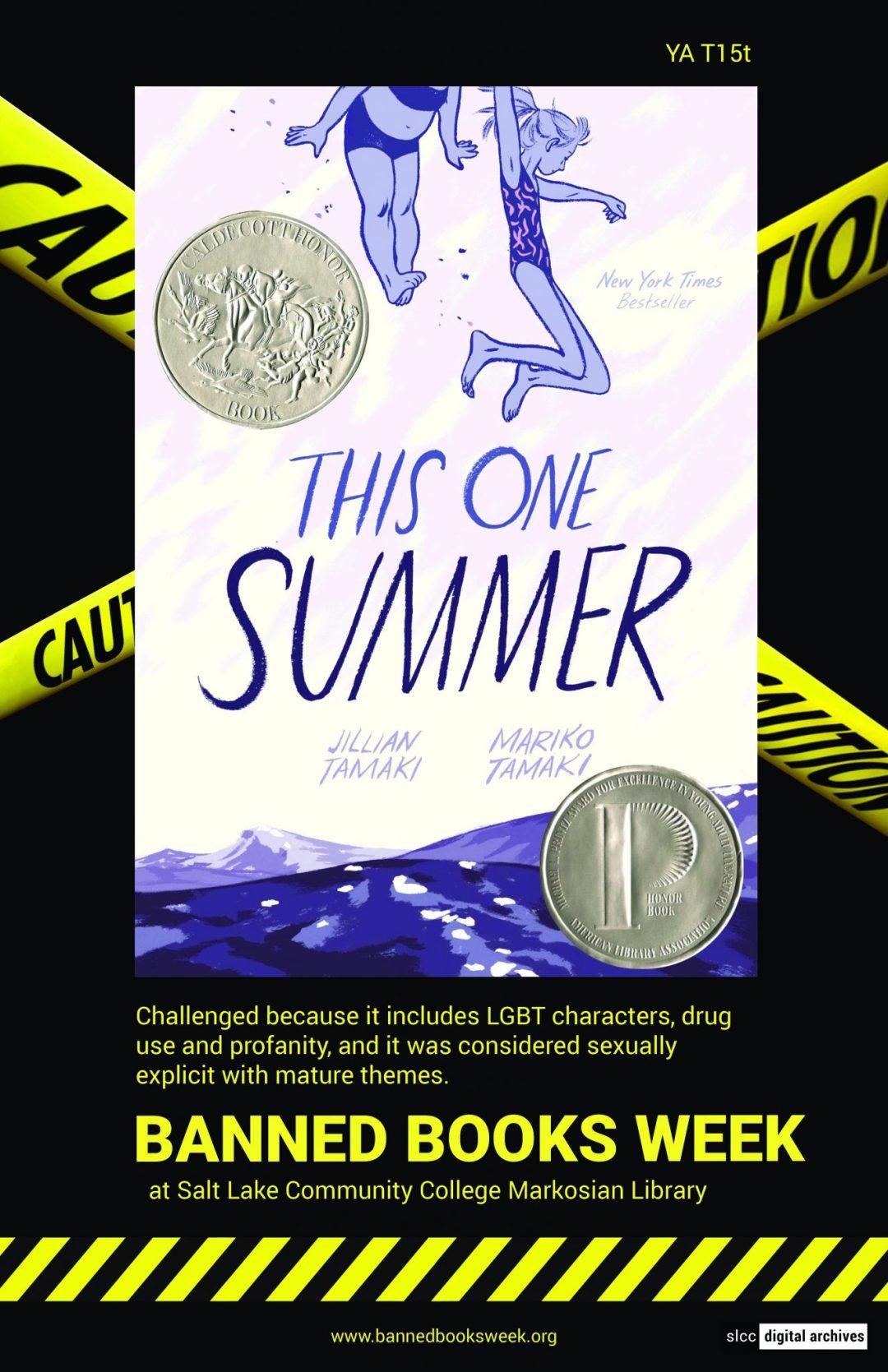 Banned Books Week Poster: This One Summer by Jillin Tamaki and Mariko Tamaki