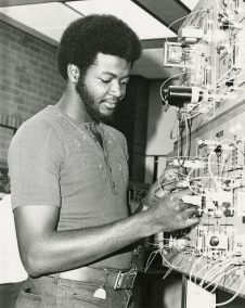Student Working On An Electronics Teaching Device