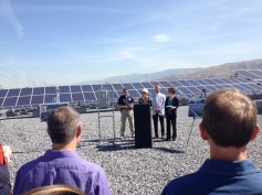 Sustainability Director Vicki Bennett talks about the City's first solar farm.
