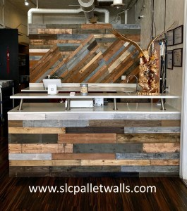inlay pallet wall commercial