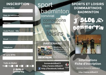 document inscription badminton
