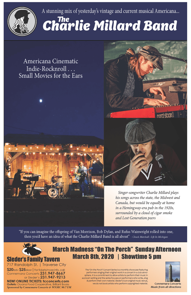 Charlie Millard Band Concert Poster