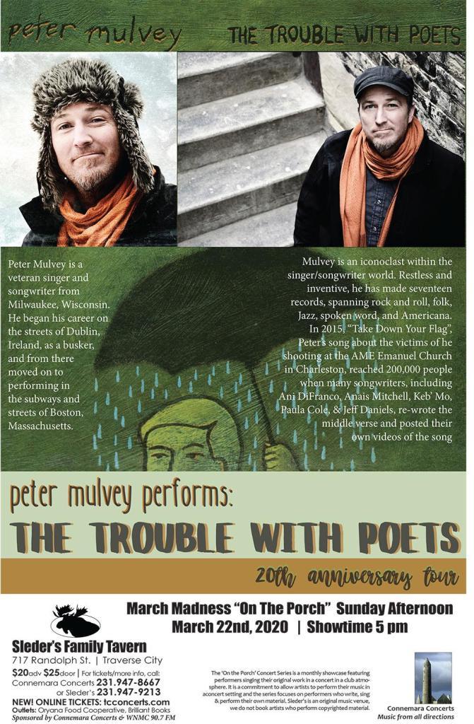 Peter Mulvey concert poster