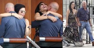 Jeff Bezos and Lauren Sanchez put on public display of affection