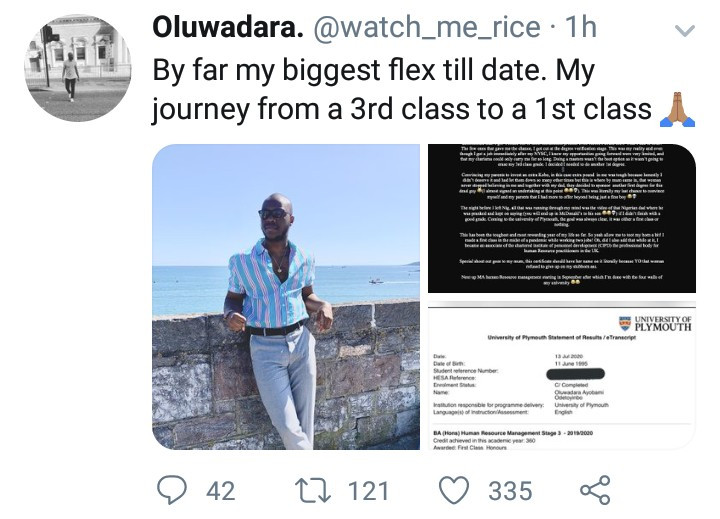 University of Ibadan, University of  Plymouth, First class, Third class, Twitter, NAIJA GIST TODAY,NIGERIAN CELEBRITY GISTS ,LATEST NEWS,NIGERIAN MUSICIANS ,LATEST NEWS,NIGERIAN MUSIC INDUSTRY ,LATEST NEWS,MUSICIANS, News, breaking news, latest news, Nigeria news, naija news, trending news, bbc news, vanguard news today, davido