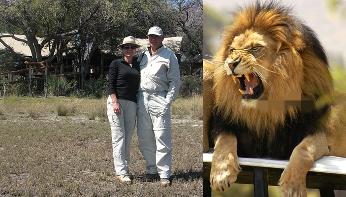 Tourist had part of his arm ripped off by a lion as he slept in a tent in Tanzania alongside his wife
