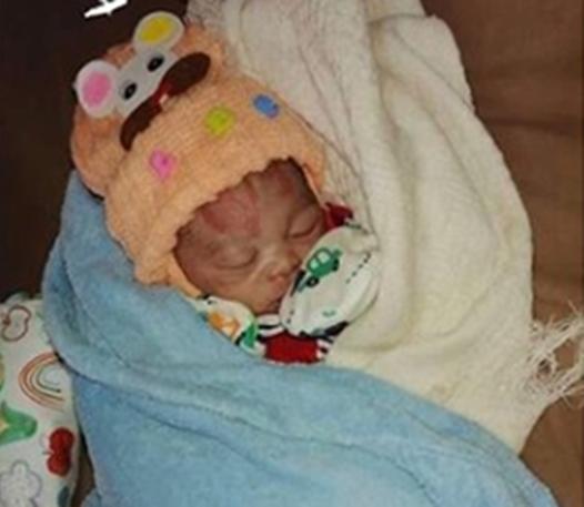 Newborn baby dumped in a soakaway, rescued