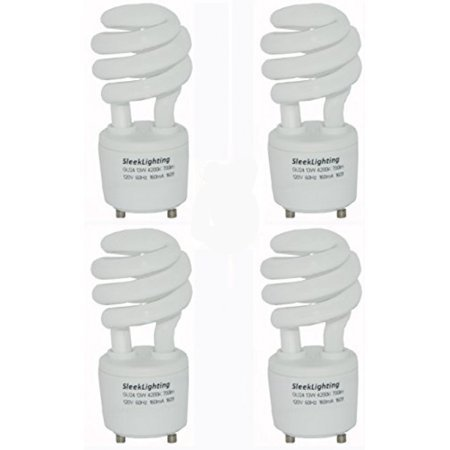 23watt T2 Spiral Cfl Light Bulb 4200k 1600lm Gu24 Base 4pack