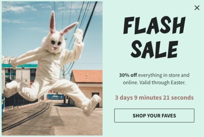 Flash Sale Popup