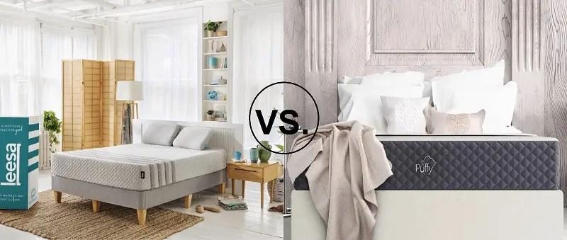 leesa hybrid vs puffy lux comparison