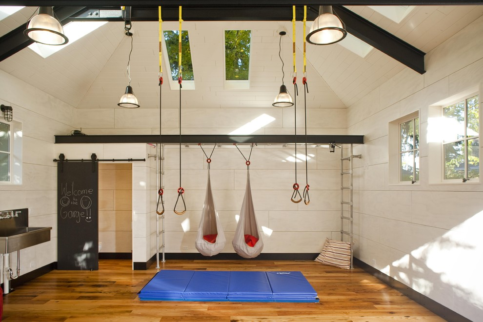 How to set up an indoor kids gym sleep deprived in seattle