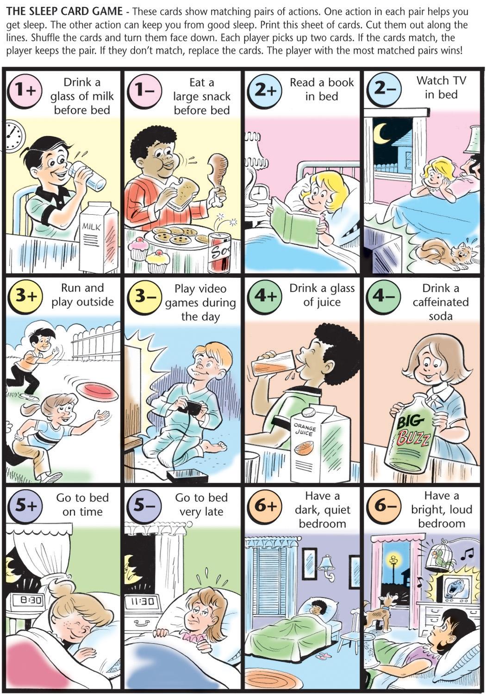 Sleep Card Game Sleep For Kids