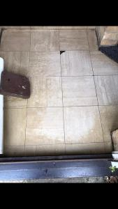 Cleaning carpet and tiles