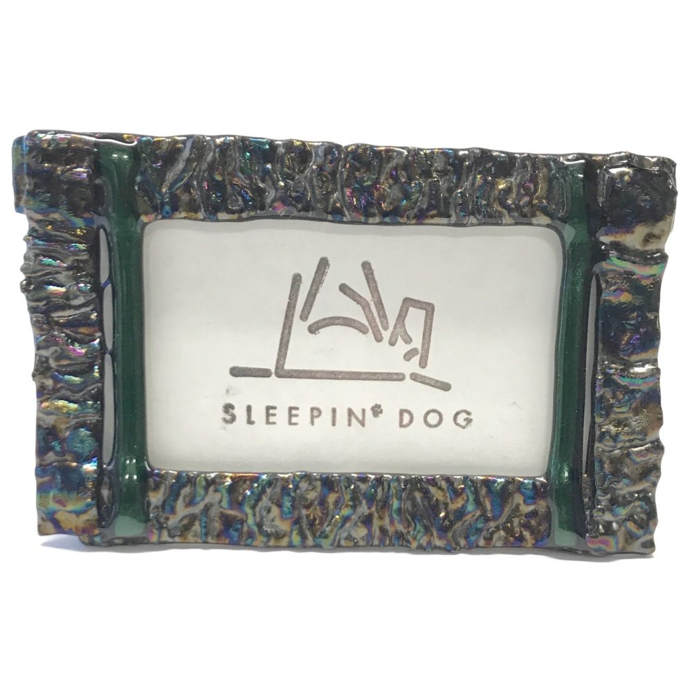 Fused Glass Picture Frame – Small – Sleepin\' Dog