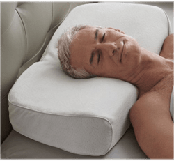 Sleeping on the back with the head elevated to stop breathing through the mouth