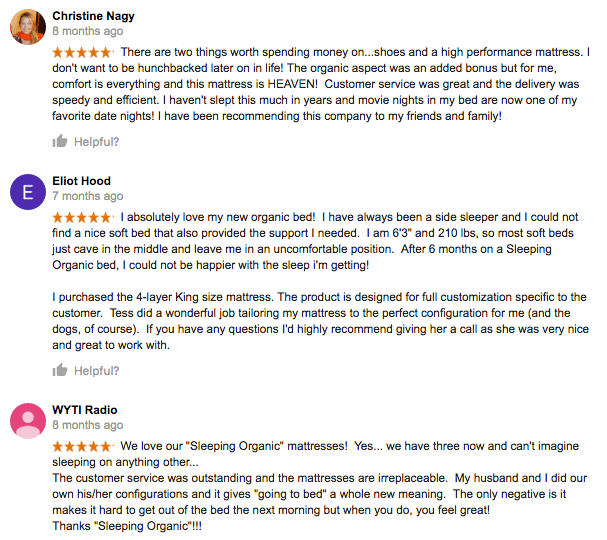 Charleston Mattress Company Reviews